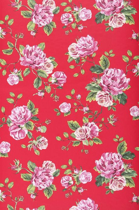 Archiv Papel pintado Isabelle rojo Ancho rollo