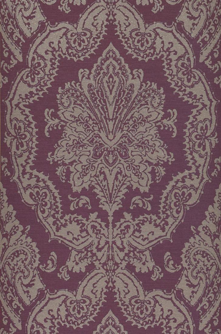 Papel pintado heigold violeta oscuro gris claro - Papeles pintados de los 70 ...