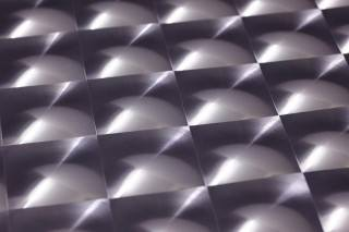 Papel de parede Cassiopeia Efeito holograma Prismas Cinza azulado lustre