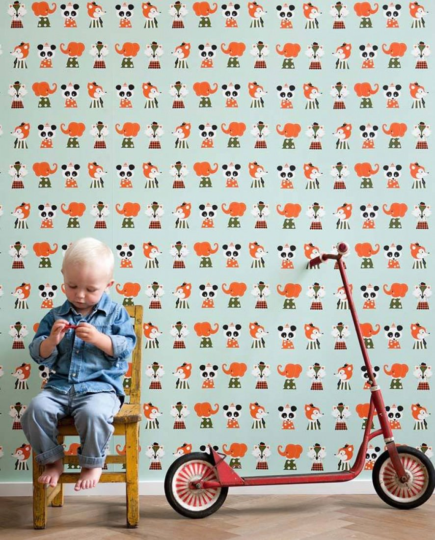 Marionette weissgr n olivgr n orange schwarz weiss for Kinderzimmer 70er