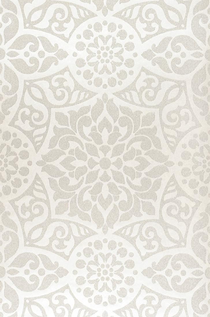 Papel pintado mirabel marfil claro blanco crema papeles de los 70 - Papel pintado de los 70 ...