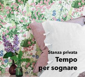 Carta da parati per camera da letto: un sogno! | Tappezzeria design