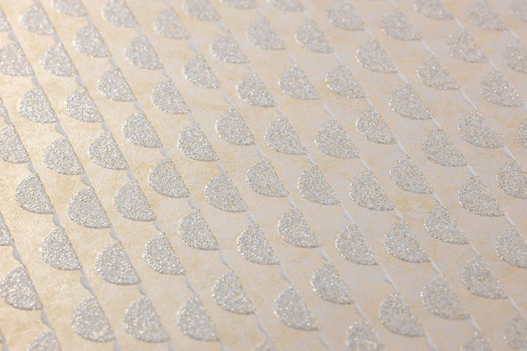 Striped Wallpaper Wallpaper Kelem mother of pearl shimmer Detail View