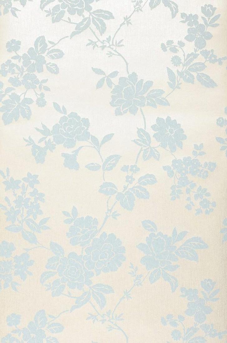 Tapete skadi grauweiss hellblau tapeten der 70er for Tapete hellblau muster