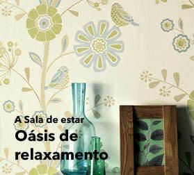 Papel de parede sala de estar para espa os fabulosos em for Papel pintado para salon moderno