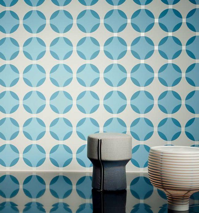 Archiv Wallpaper Maude pastel blue Room View