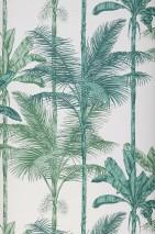 Wallpaper Tamaris Matt Palm trees White Shades of green