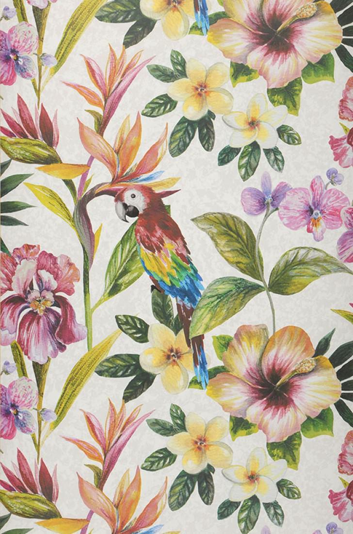 Gadotti blanc gris blanc bleu jaune vert orange rouge violet papie - Papier peint des annees 70 ...