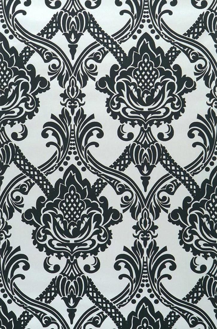 Anubis blanco brillante negro papel pintado barroco patrones de papel pintado papeles - Papel pintado barroco ...
