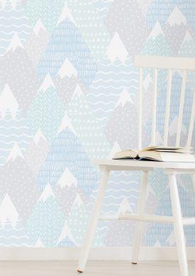 Papel de parede Kadira azul pastel Ver quarto