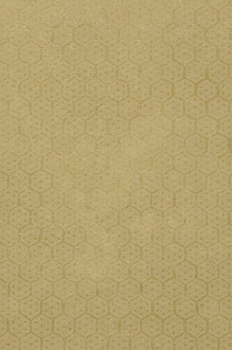 Archiv Wallpaper Imana olive yellow A4 Detail