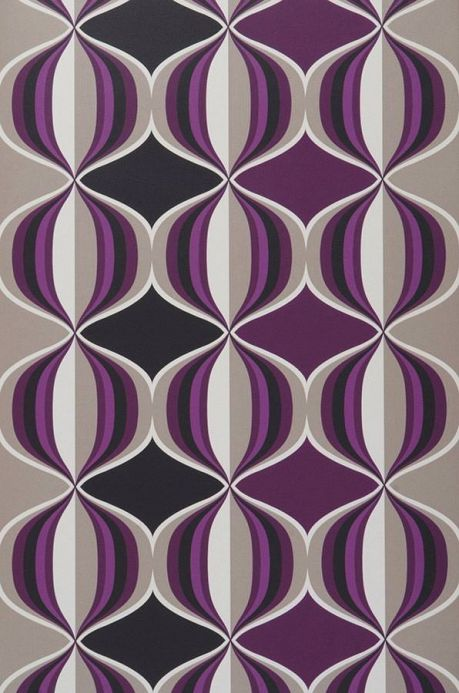 Archiv Papel pintado Delos violeta Ancho rollo