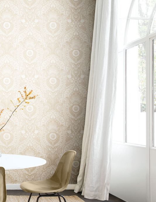 Archiv Wallpaper Luska beige Room View