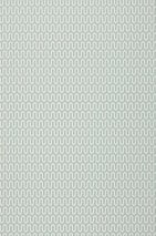 Wallpaper Hermod Matt Stylised letter Y White Mint grey