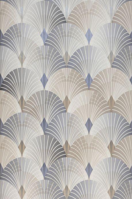 Geometric wallpaper Wallpaper Sabia grey blue Roll Width