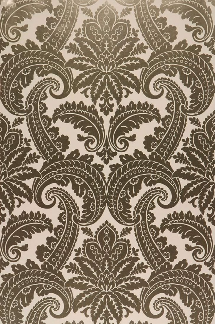 Papel pintado nemesis blanco crema oro lustre papeles de los 70 Papel pintado anos 70