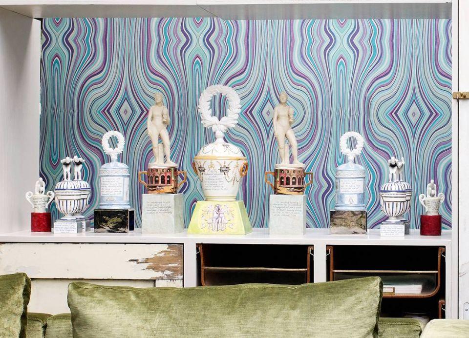 Archiv Papel pintado Mentana violeta Ver habitación