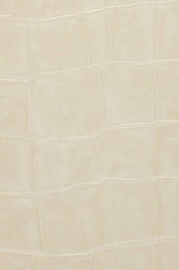 Wallpaper Croco 11 light ivory A4 Detail