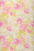 Wallpaper Pierap Matt Stylised blossoms Cream Yellow green Grey beige Grey beige shimmer Light grey beige Rose