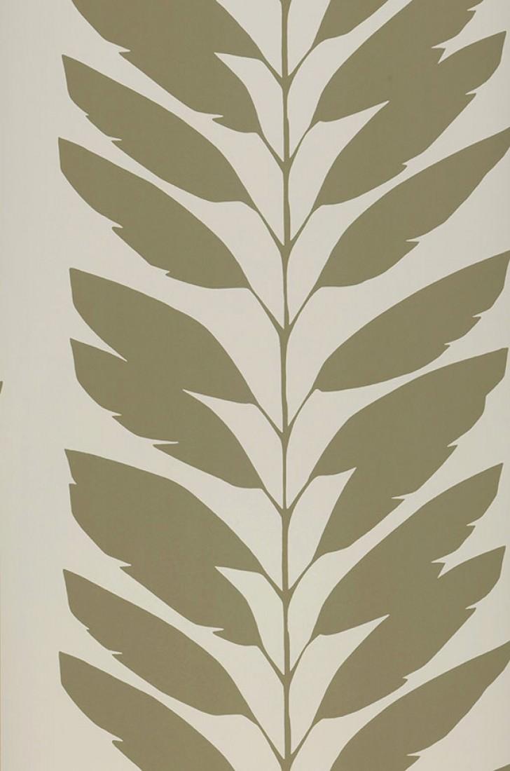 Papier peint koda blanc cr me gris olive papier peint des ann es 70 - Largeur d un rouleau de papier peint ...