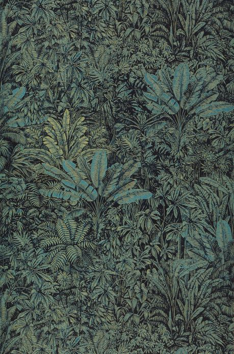 New arrivals! Wallpaper Tropicalia turquoise blue Bahnbreite