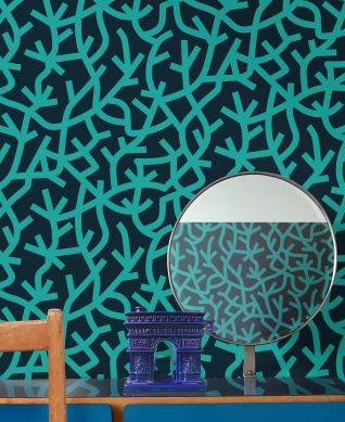 Wallpaper Oceane water blue Room View