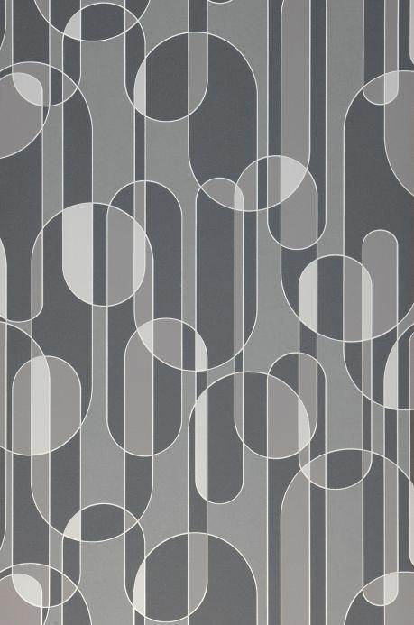 Papier peint rétro Papier peint Asenio tons de gris Largeur de lé