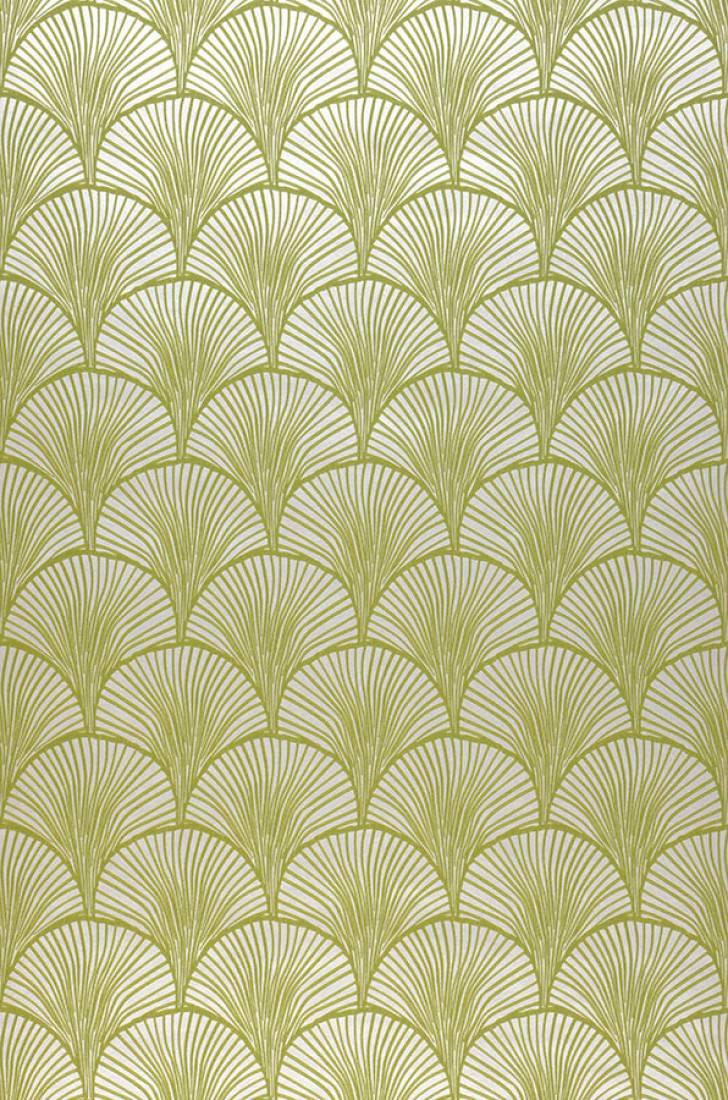 Wallpaper Nippon White Aluminium Yellow Green Wallpaper From