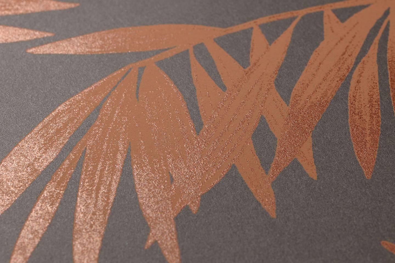 Papel pintado aria marr n gris ceo cobre brillante - Papel pintado de los 70 ...