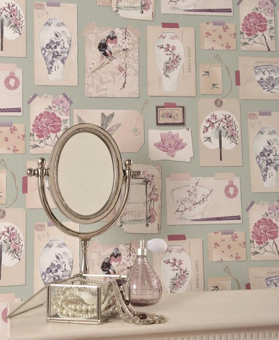Archiv Wallpaper Belana antique pink Room View
