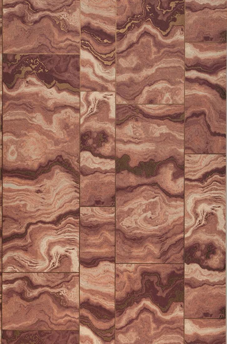 Papel pintado medea tonos de marr n bronce brillante - Papeles pintados de los 70 ...