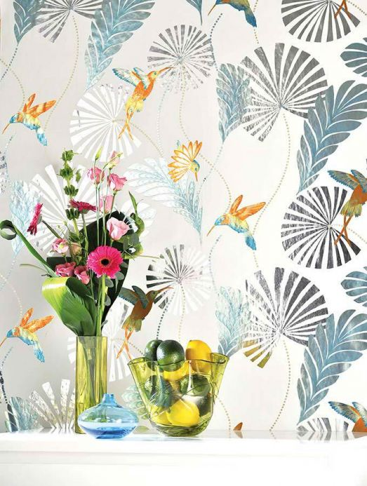 Archiv Wallpaper Colibri turquoise lustre Room View