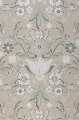 Wallpaper Sanna light grey beige Bahnbreite