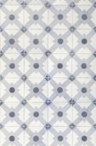 Wallpaper Celosia grey Matt Imitation tiles Dark blue grey Grey white Light grey