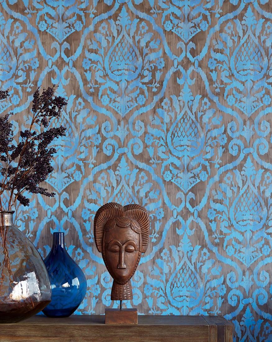 tapete esiko blassbraun graubraun brillantblau. Black Bedroom Furniture Sets. Home Design Ideas