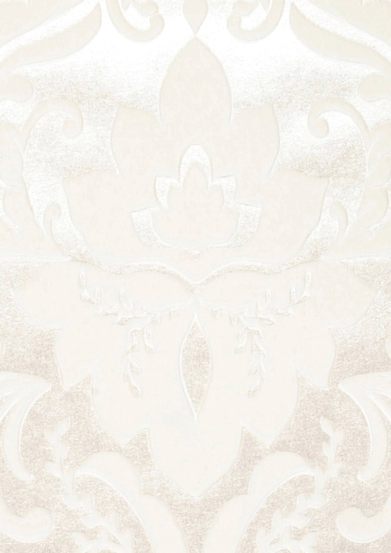 sennin nacre brillant blanc cr me papier peint baroque motifs du papier peint papier. Black Bedroom Furniture Sets. Home Design Ideas