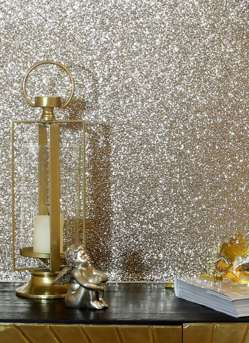 Modern Wallpaper Wallpaper Paragon gold glitter Room View
