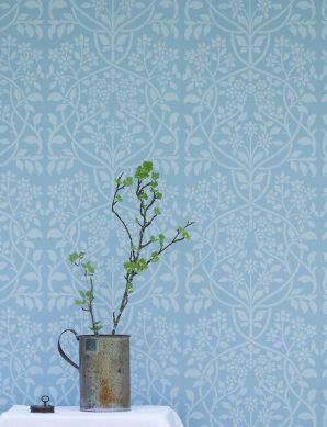 Papel de parede Rosmery azul claro Ver quarto