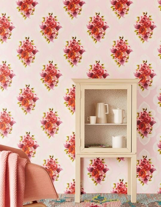 Archiv Wallpaper Malona pale pink Room View