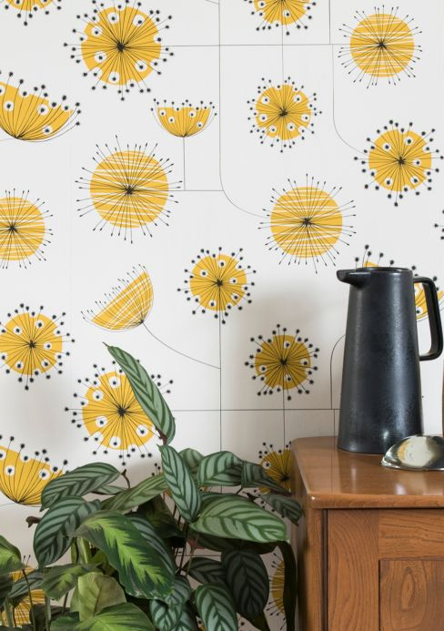 New arrivals! Wallpaper Dandelion Mobile yellow Room View
