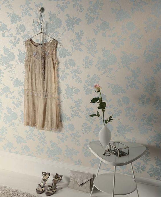 Archiv Papel pintado Skadi azul claro Ver habitación