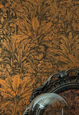 Papel pintado Tropicalia marrón anaranjado Raumansicht