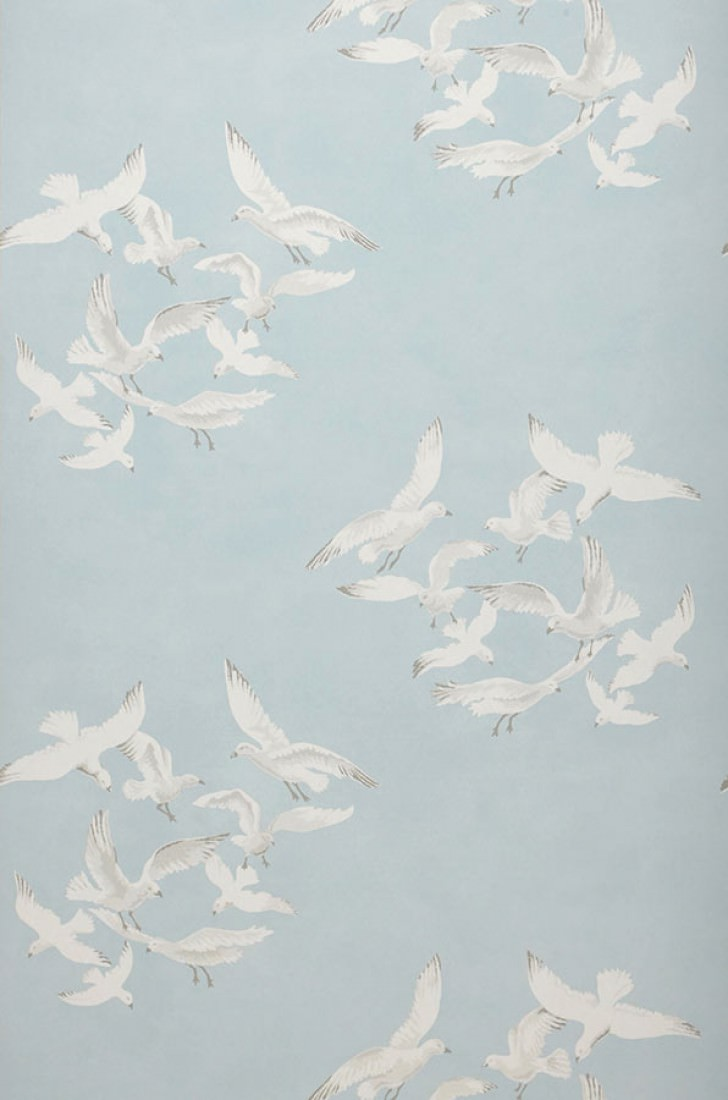 Papier peint greta bleu clair pastel gris blanc papier peint des ann es 70 - Papier peint annee 70 ...