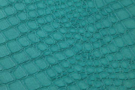 Tapete Caiman Wasserblau Detailansicht