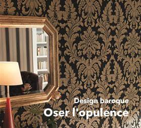 papier peint classique faste et apparat d un papier peint g n reux. Black Bedroom Furniture Sets. Home Design Ideas