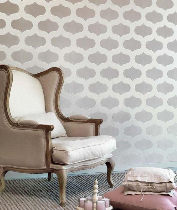 Archiv Papel pintado Nanshe blanco grisáceo Ver habitación