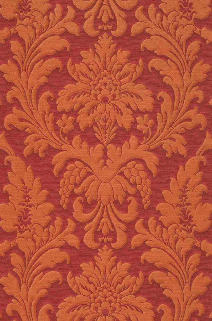 carta da parati marunda rosso rubino marrone arancio On carta da parati damascata rossa