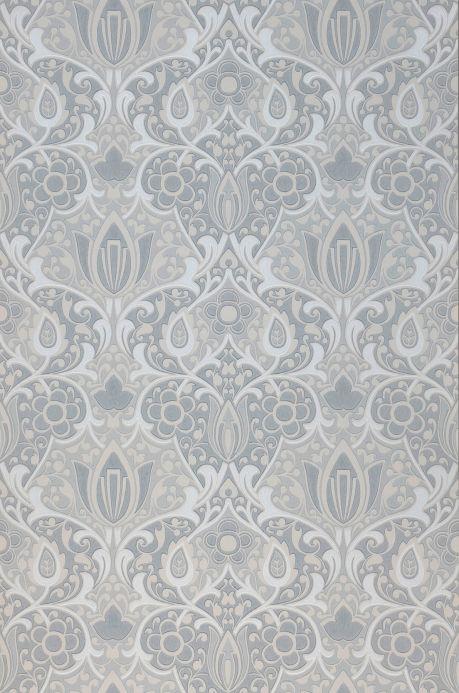 Papel pintado Art Nouveau Papel pintado Lamine tonos de gris Ancho rollo