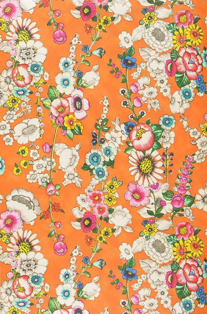 Wallpaper Megara Orange Blue Heather Violet Yellow Green
