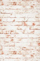 Wallpaper Killa Matt Bricks White Brown white Brick red